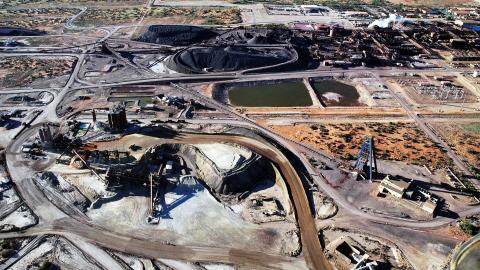 La mine d'Olympic Dam, en Australie, est l'une des plus grandes du monde. Photo : BHP Billiton/SkyScans